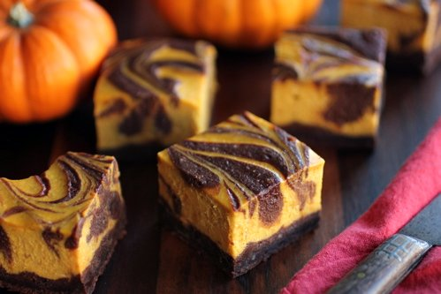 Bourbon Pumpkin Cheesecake Brownie Recipe
