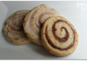 Cinnabun Glazed Cookies - Vegan Recipe