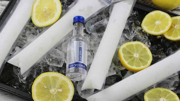 Frozen Lemonade Vodka Popsicle Recipe