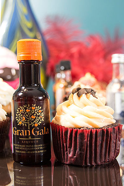 Orange Chocolate Boozy Cupcakes from DelightsByDawn.com