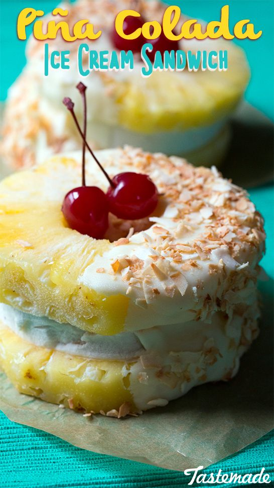 Pina Colada Ice Cream Sandwich Recipe