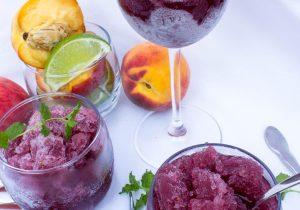 Peach Sangria Granita Recipe