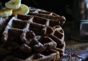 Chocolate Bourbon Waffles