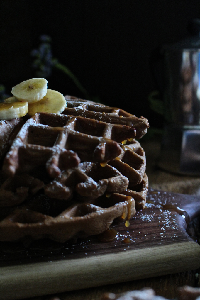 Chocolate Bourbon Waffles