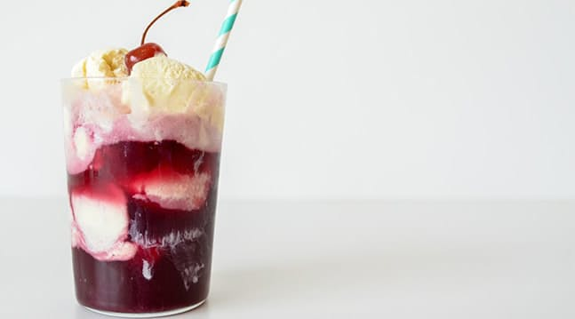 Wine Ice Cream Float Recipe