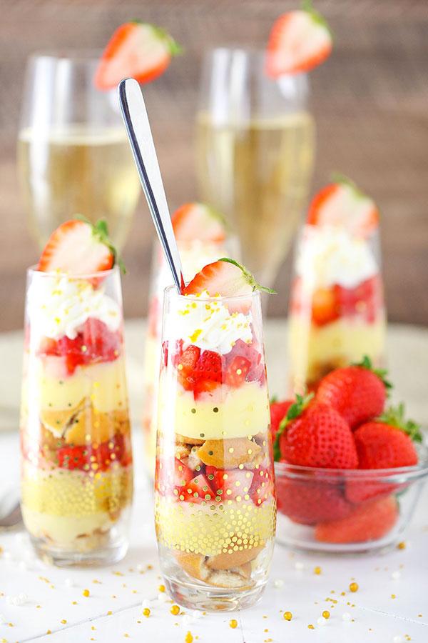Mini Strawberry Champagne Trifles Recipe