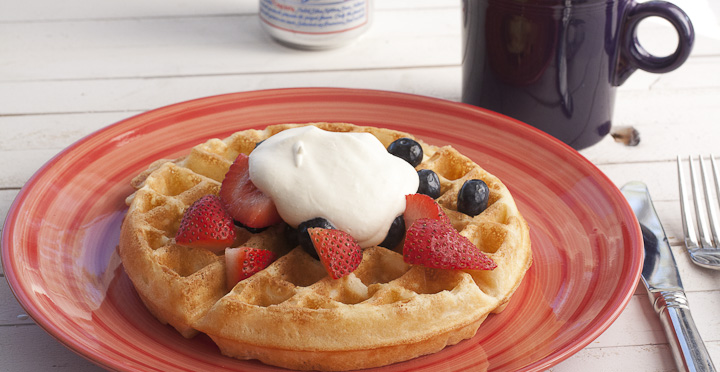Pabst Blue Ribbon Beer Waffles Recipe