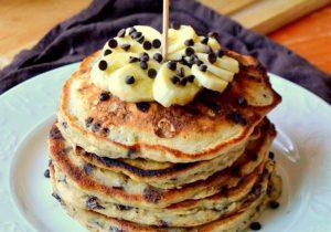 Rum Spiked Chocolate Chip Banana Pancakes Recipe