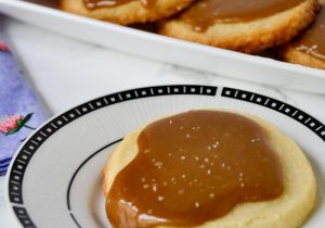 Salted Bourbon Caramel Shortbread Cookie Recipe