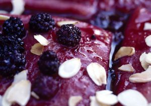 Boozy Blackberry Pancakes with Orange and Almond Recipe