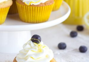 Boozy Blueberry Lemon Cupcake Recipe