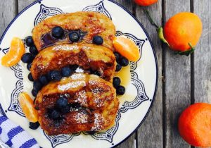 Boozy Blueberry and Tangerine French Toast Recipe