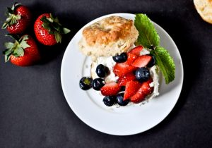 Boozy Red White and Blueberry Shortcake Sliders Recipe