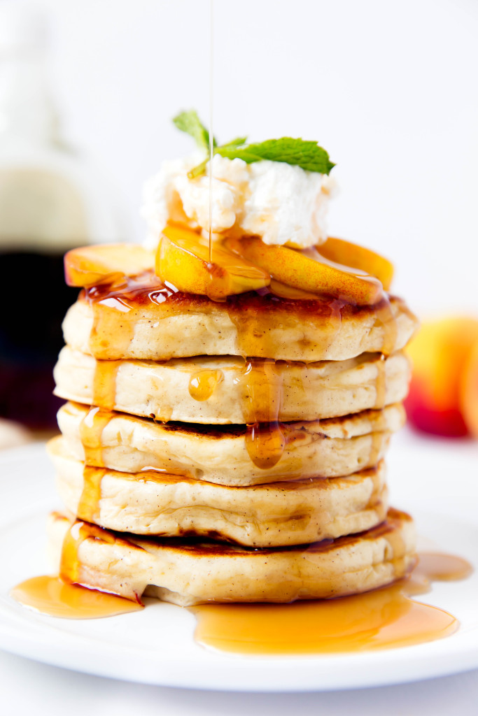 Bourbon Peach Pancakes Recipe
