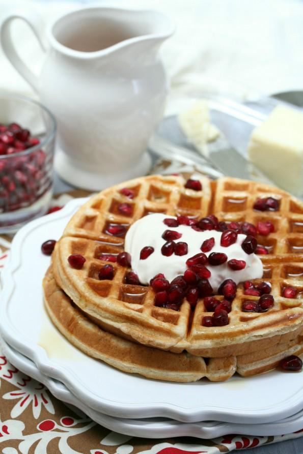 Bourbon Pomegranate Waffle Recipe