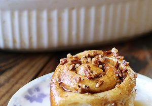 Pecan Sticky Rolls With Maple Bourbon Glaze Recipe