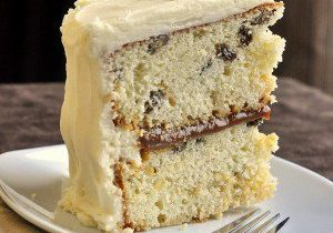 Rum Raisin Caramel Cake Recipe