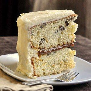 Rum Raisin Caramel Cake Recipe