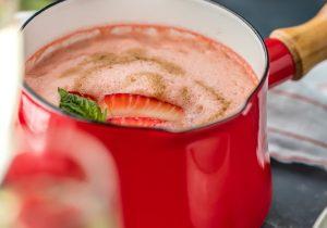 Strawberry Champagne Soup Recipe