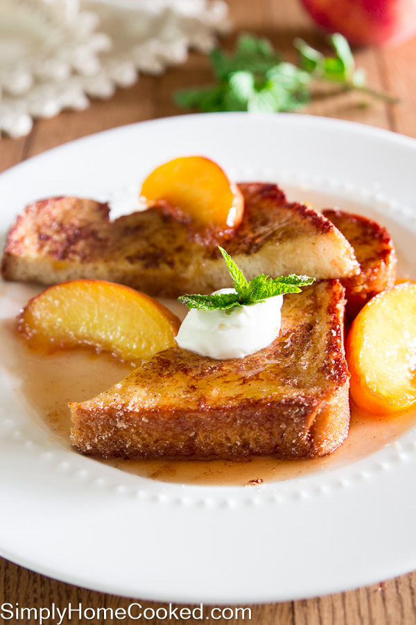 Caramelized Peaches French Toast