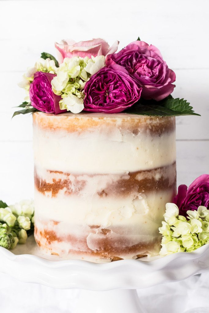 Champagne Cake with Rose Buttercream Recipe