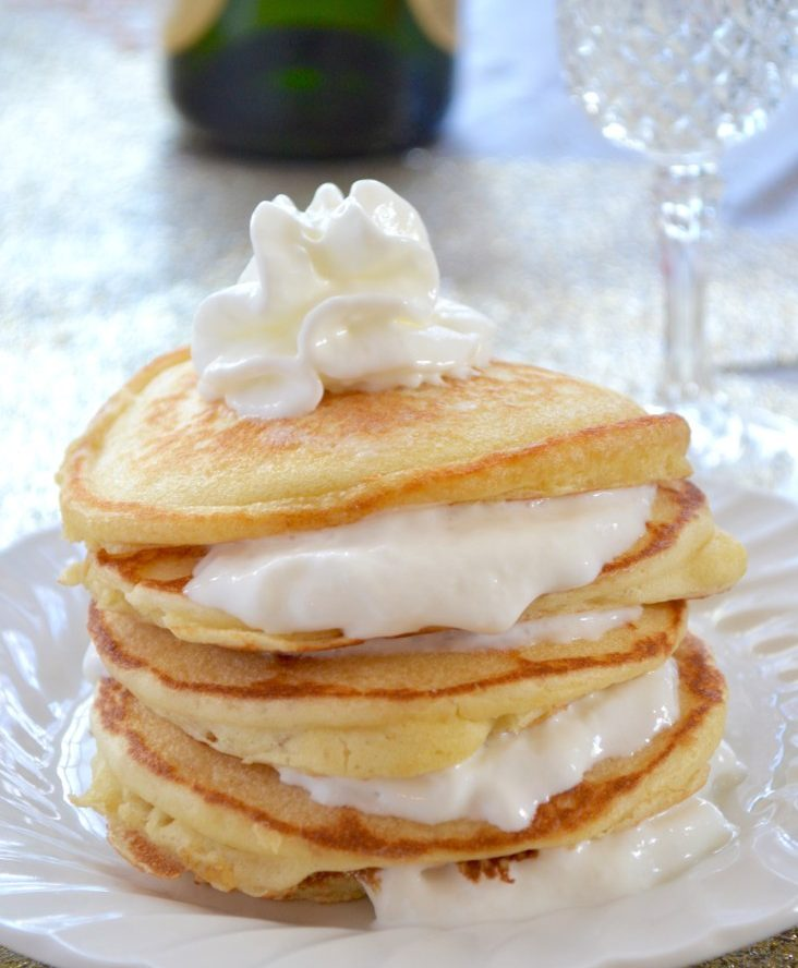 Champagne Pancakes with Champagne Frosting Recipe