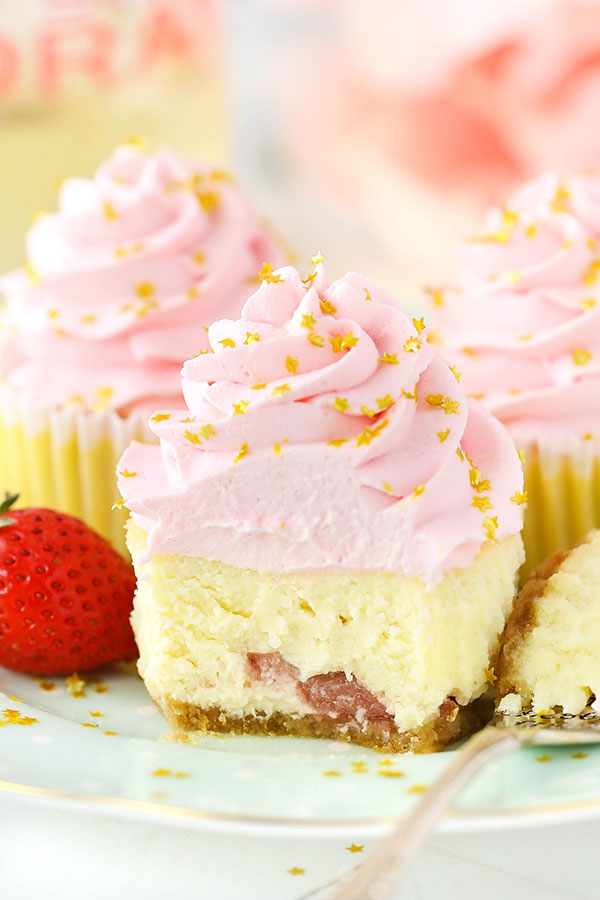 Mini Strawberry Champagne Cheesecakes Recipe