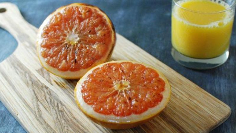 Boozy Broiled Grapefruit Recipe