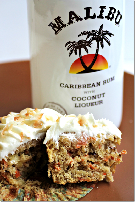 Coconut Rum Carrot Cake Cupcakes Recipe