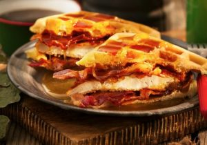 Fried Chicken and Waffle Sandwich Recipe
