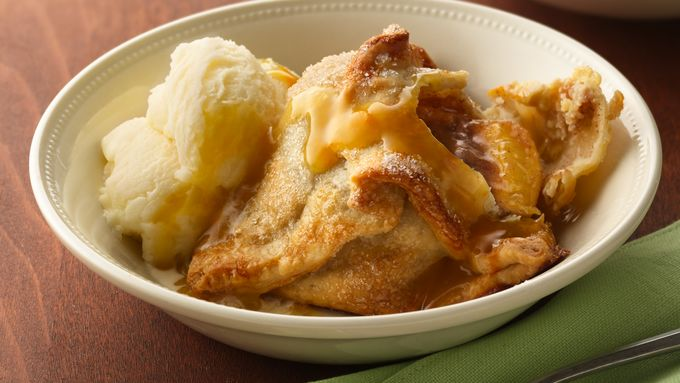 Peach Dumpling with Fuzzy Navel Sauce Recipe