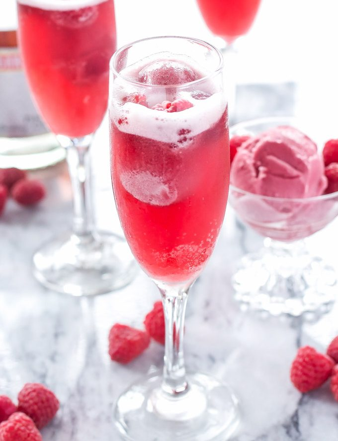Raspberry Sorbet Bellinis Recipe