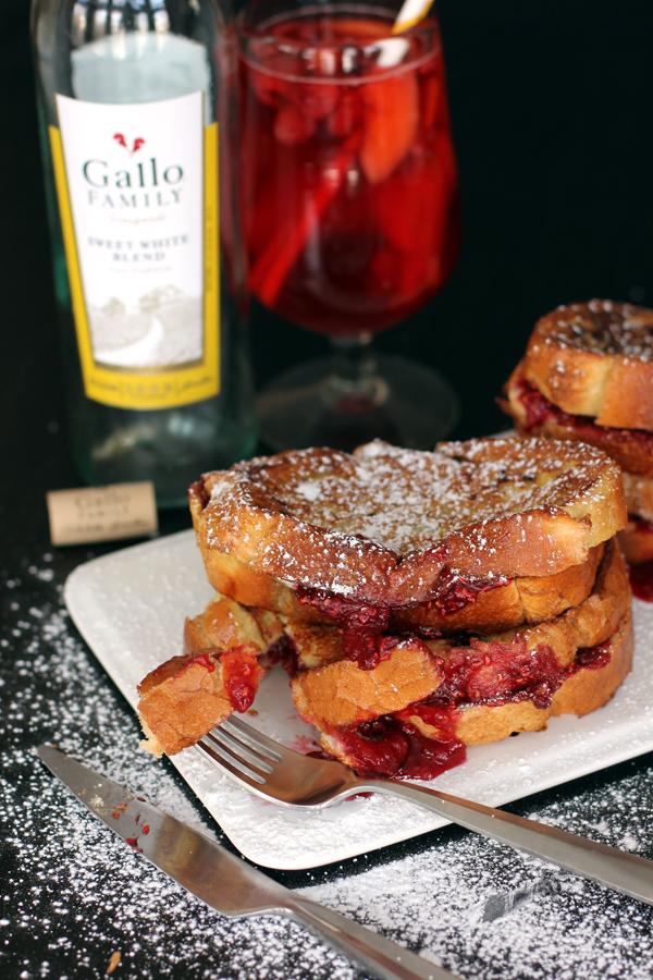 Sangria Stuffed French Toast