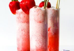 Strawberry Champagne Float Recipe