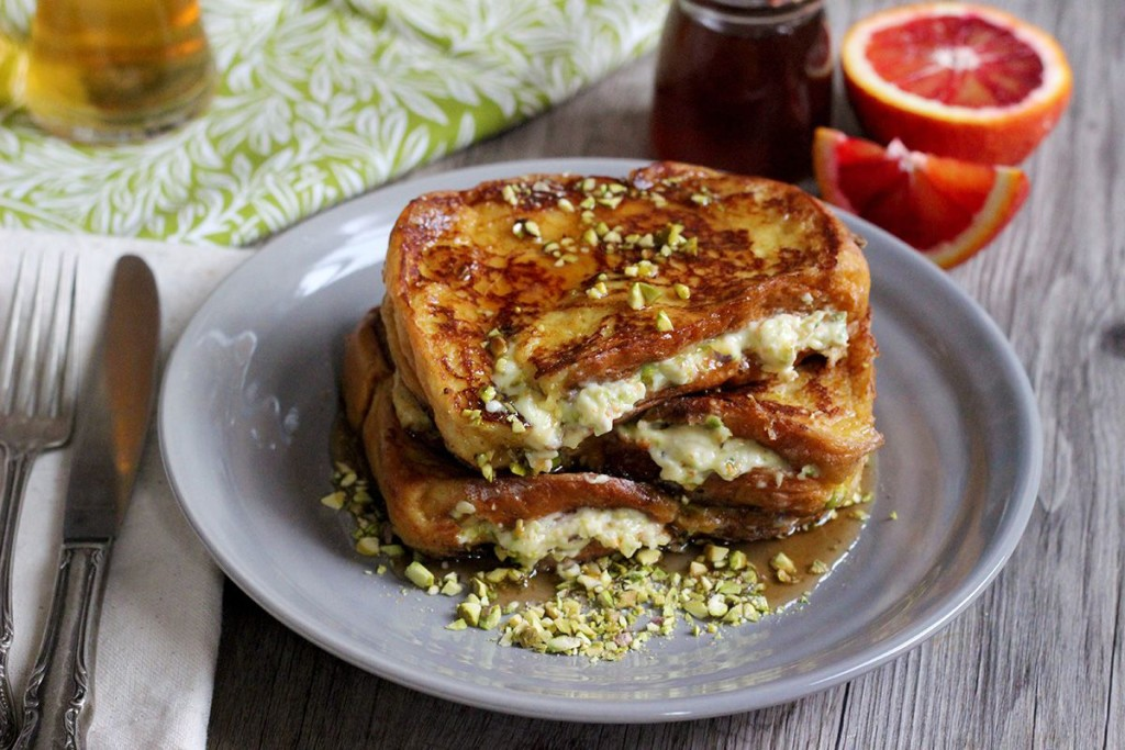 Stuffed Wheat Beer French Toast