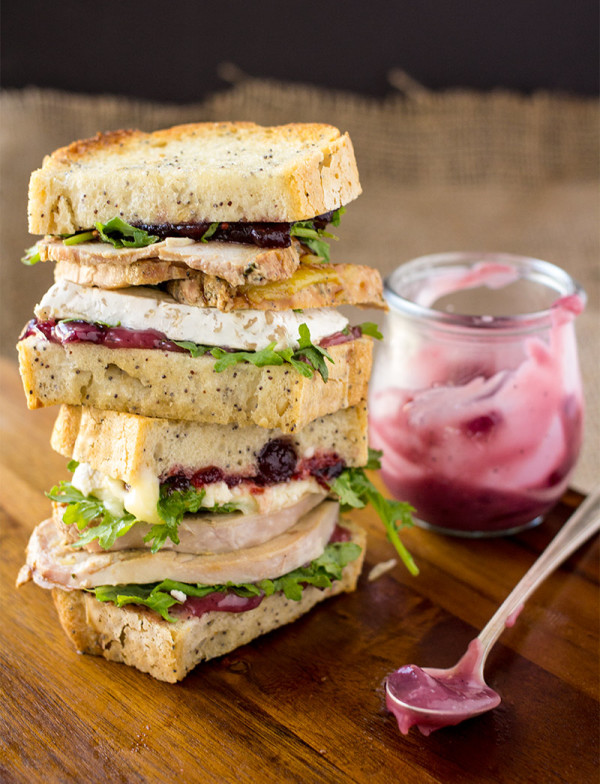 Turkey and Brie with Red Wine Aioli