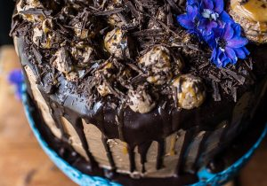 Chocolate Bourbon Caramel Macaron Cake Recipe