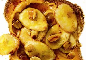 Grown Up Peanut Butter with Boozy Bananas Recipe