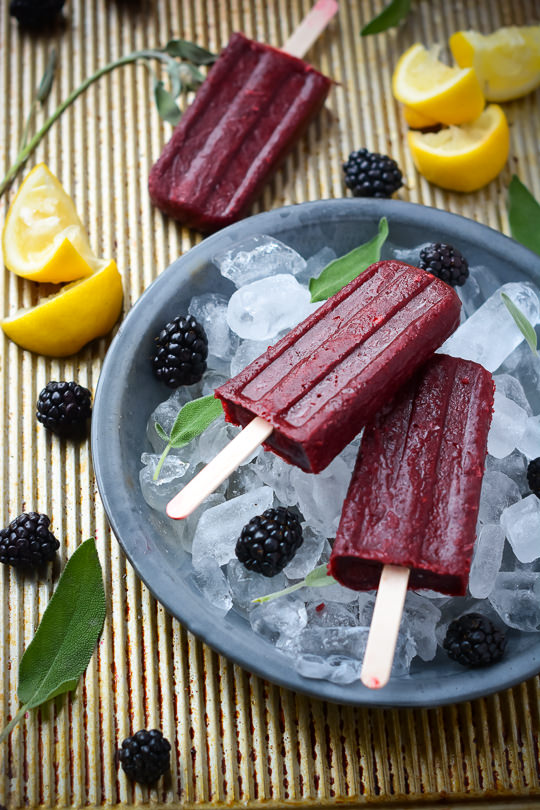 Boozy Blackberry Vodka Popsicles