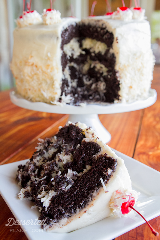 Coconut Rum Dark Devils Food Layer Cake Recipe