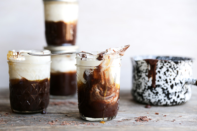 Baileys Chocolate Mousse with Whiskey Caramel Sauce and Whipped Cream Recipe