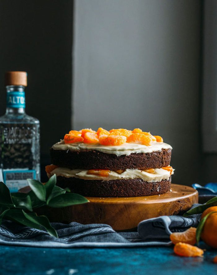 Chocolate Cake with Tequila Orange Icing Recipe