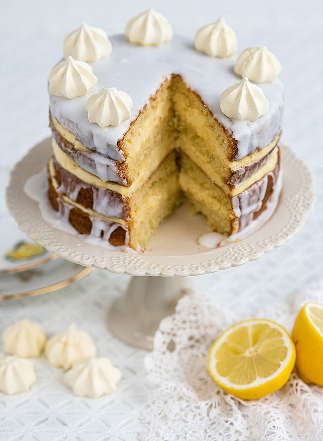 Gin Passion Fruit and Lemon Layer Cake Recipe
