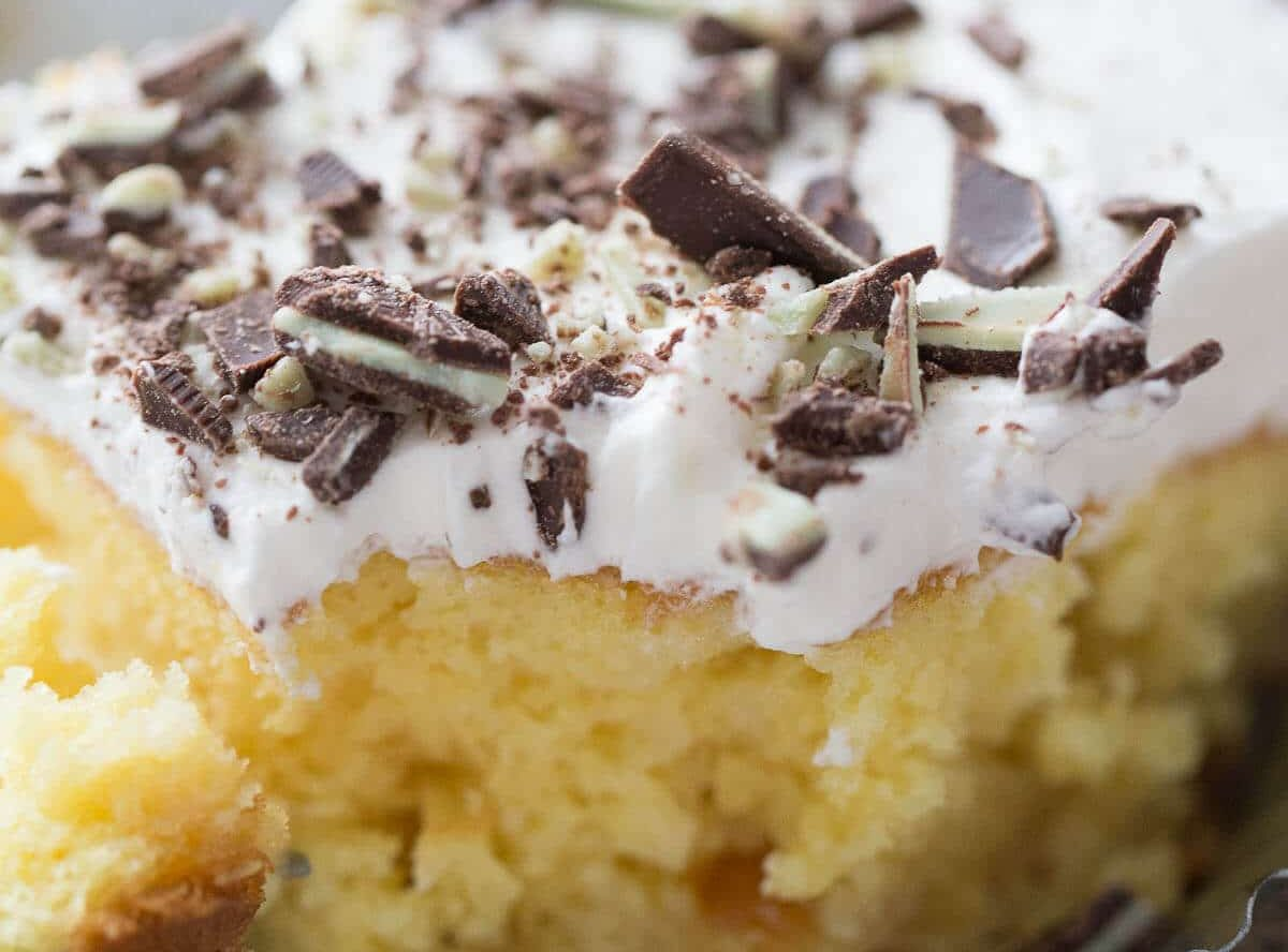 Mint Julep Poke Cake Recipe