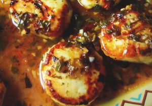 Seared Tequila Scallops Recipe