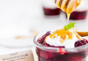 Wine Poached Berries with Mascarpone Cream Recipe
