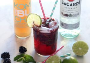 Blackberry Mint Kombucha Cocktail Recipe
