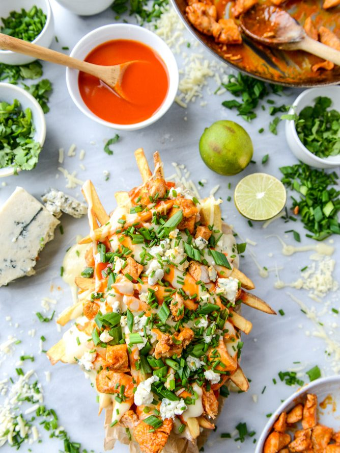 Buffalo Chicken Beer Cheese Fondue Fries Recipe