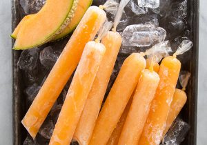 Cantaloupe Rum Pops Recipe
