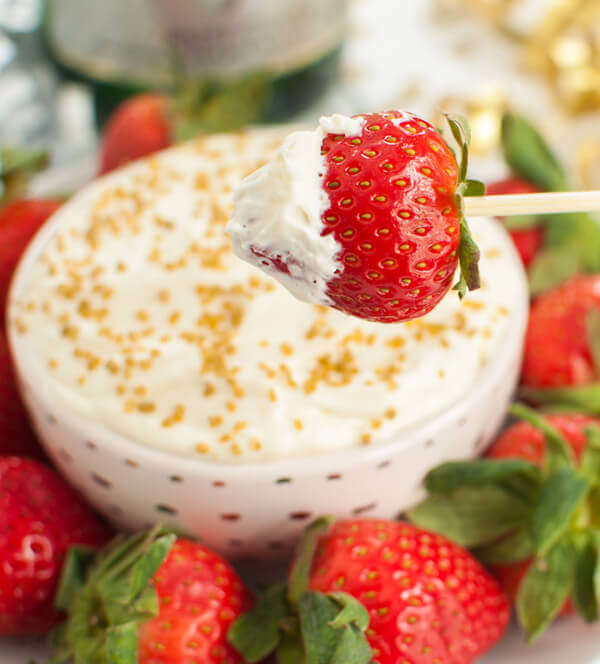 Champagne Cheesecake Fruit Dip Recipe